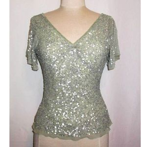 Pale green Papéll Boutique sequined blouse